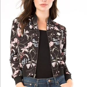 Iz Byer Floral Bomber Jacket